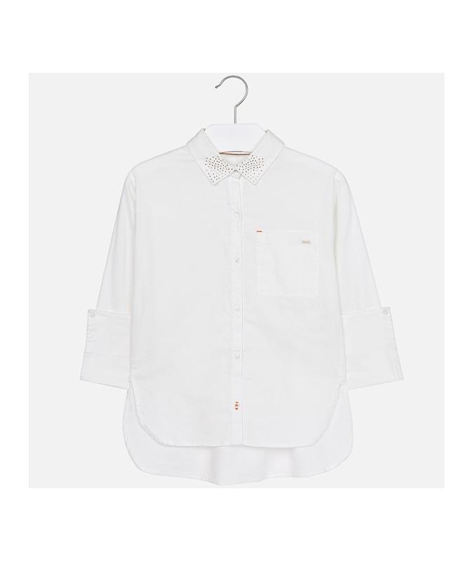 Спортно-елегантна риза с ефектна яка Mayoral 0007123