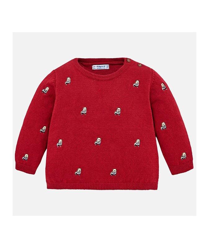 Бебешки плетен пуловер Mayoral 0002320