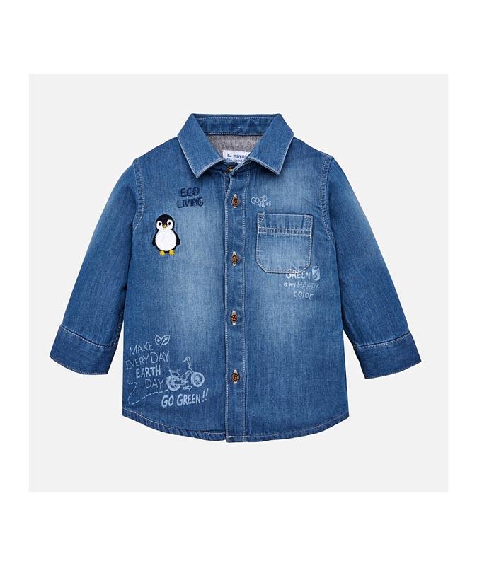 Бебешка дънкова риза Mayoral 0002126