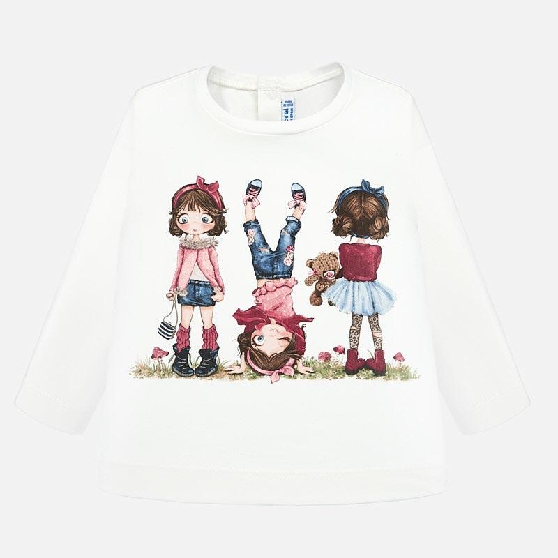 Бебешка памучна блузка Mayoral 0002010