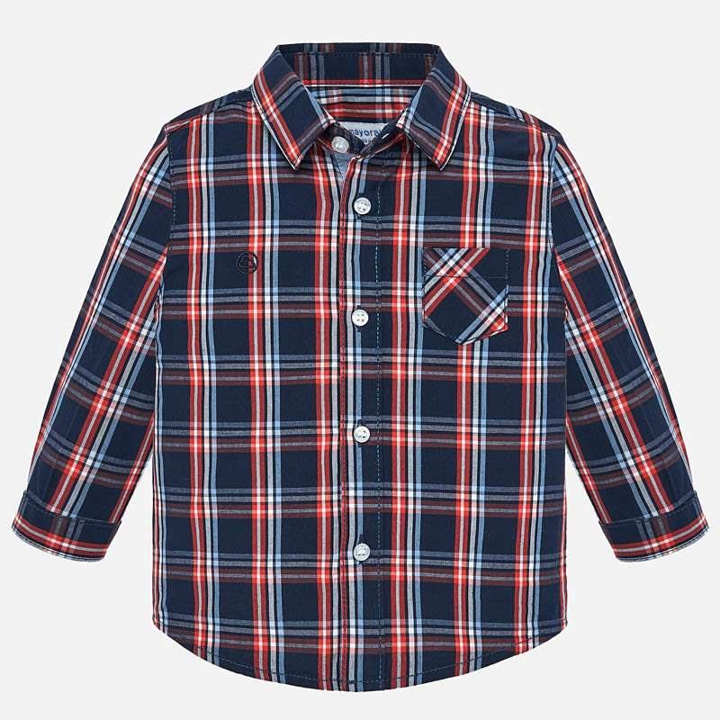 Бебешка памучна риза Mayoral 0002112