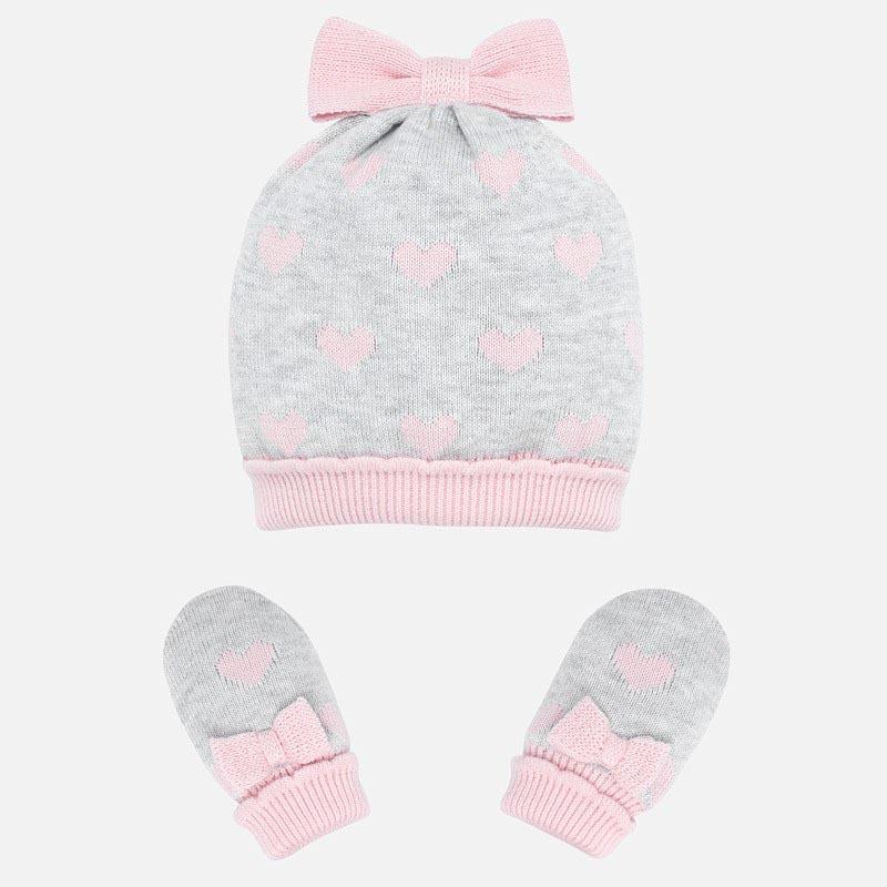 Бебешки комплект шапка и ръкавички Mayoral 0009176