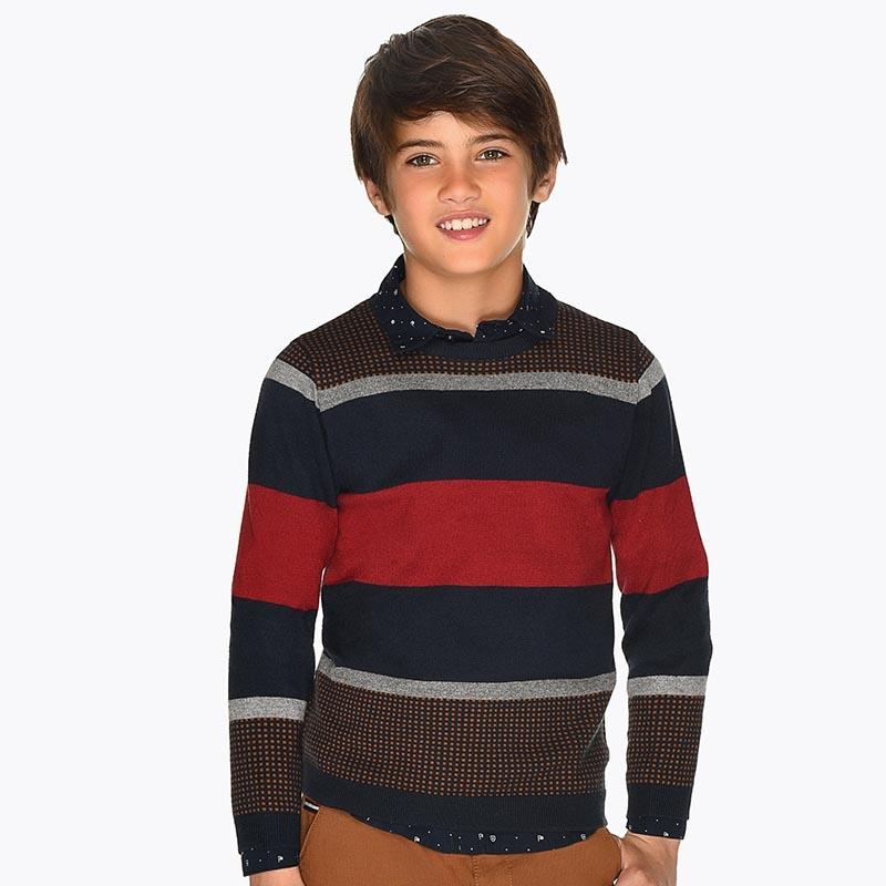 Детски пуловер на райета Mayoral 0007309