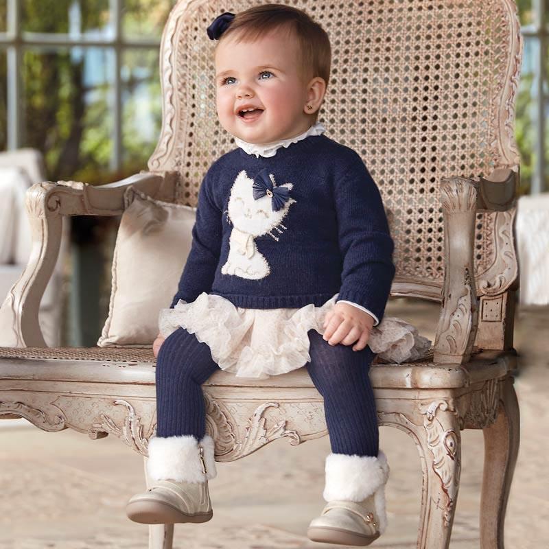Бебешка плетена рокля Mayoral 0002922