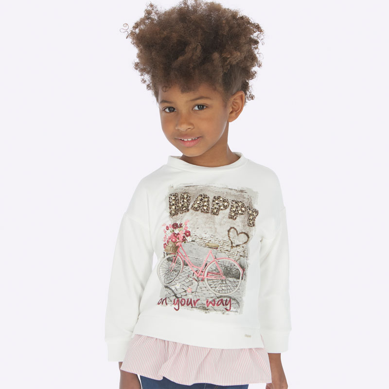 Детски пуловер с волан Mayoral 0004403