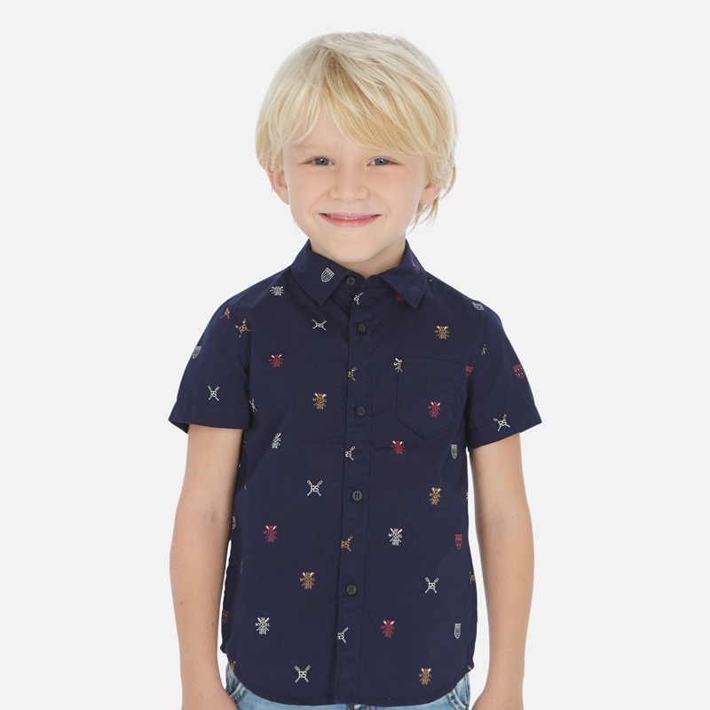 Стилна риза с къс ръкав Mayoral 3166