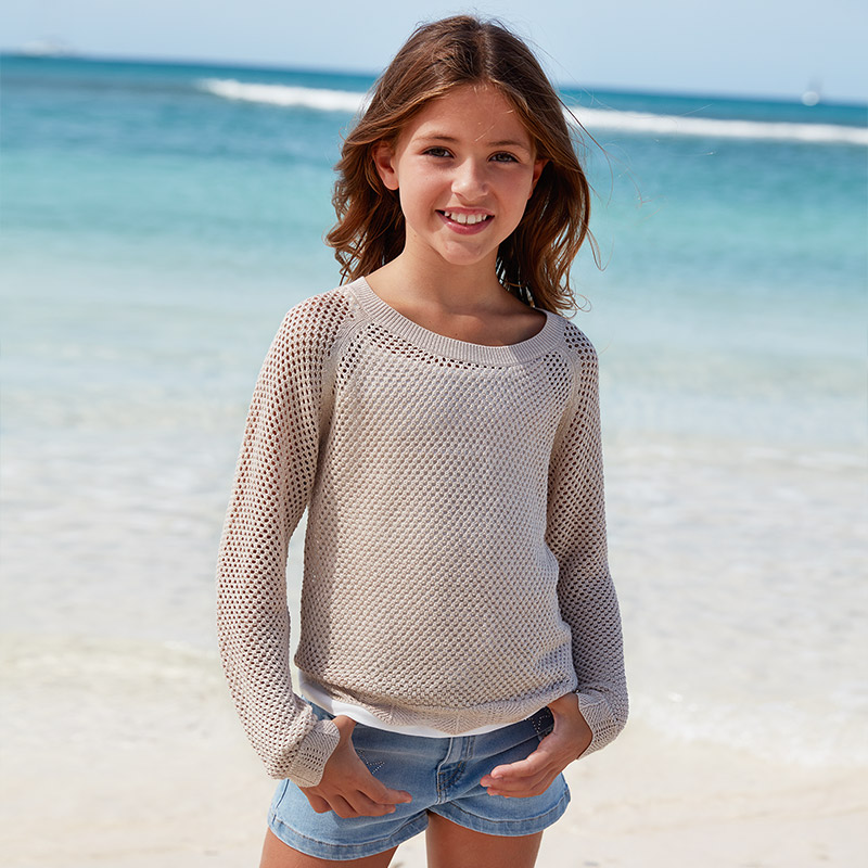 Детски ажурен пуловер Mayoral 6312