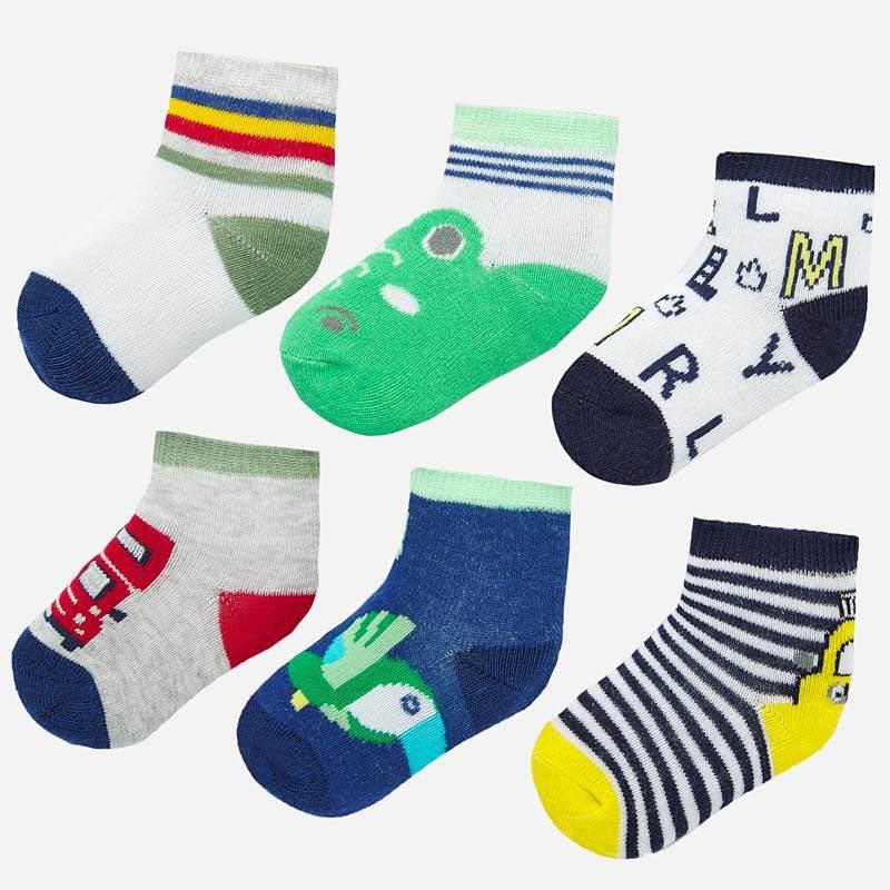Комплект шарени чорапи за новородено момче Mayoral 9244