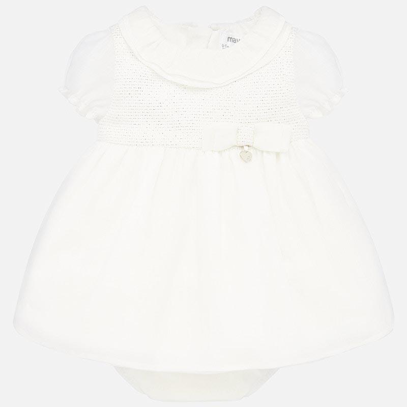 Стилна рокля от две части за новородено момиче Mayoral 1870