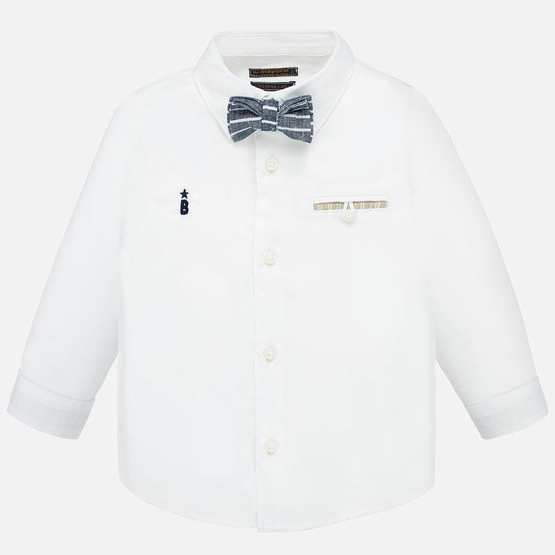 Стилна риза с дълъг ръкав и папийонка Mayoral 1162