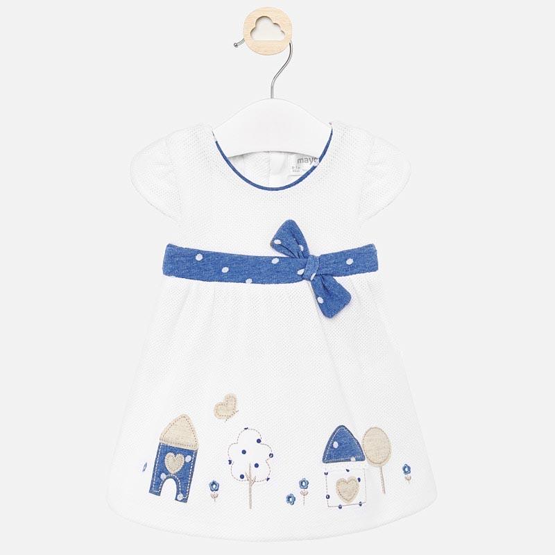 Бебешка рокля с бродерии и панделка Mayoral 1860