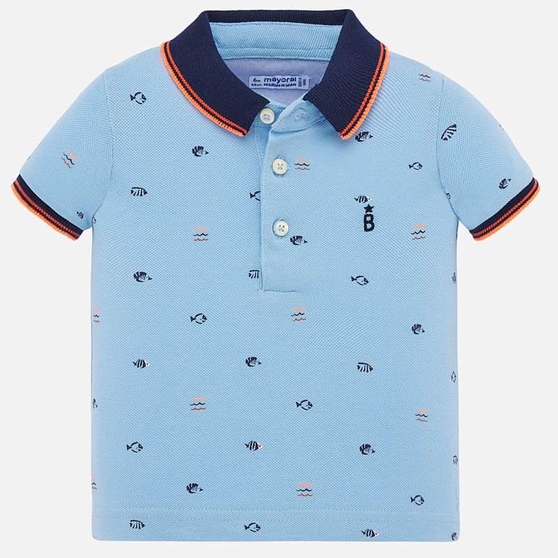Красива тениска тип поло за бебе момче Mayoral 1153