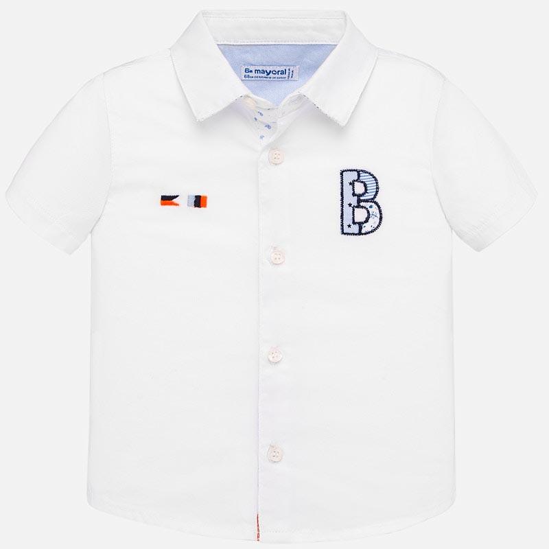 Модерна риза с къс ръкав за бебе Mayoral 1160