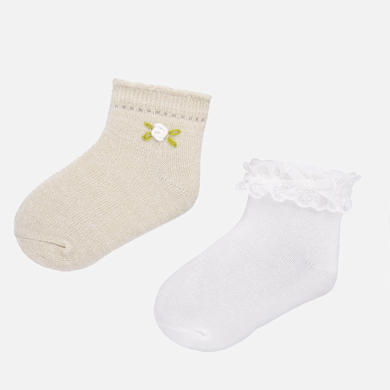 Удобен комплект от 2 чифта чорапи за бебе Mayoral 10738