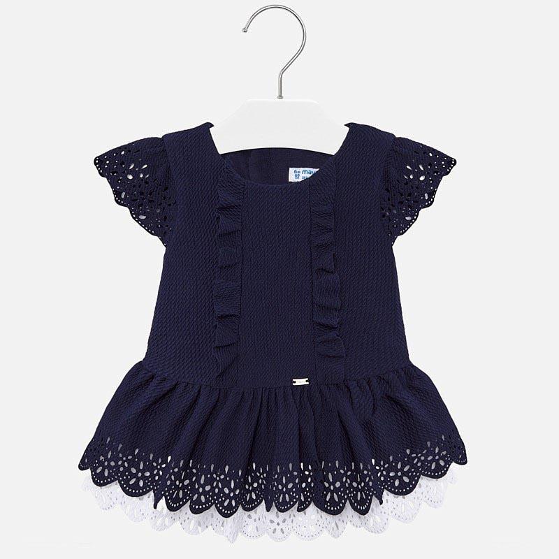 Красива рокля с къс ръкав за бебе Mayoral 1912