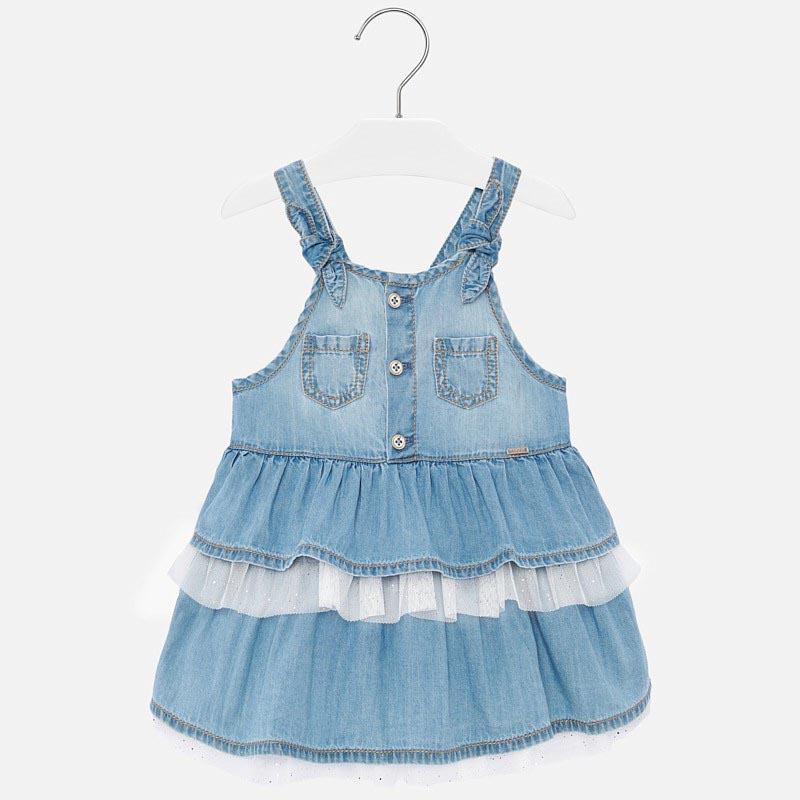 Стилна дънкова рокля за бебе момиче Mayoral 1903