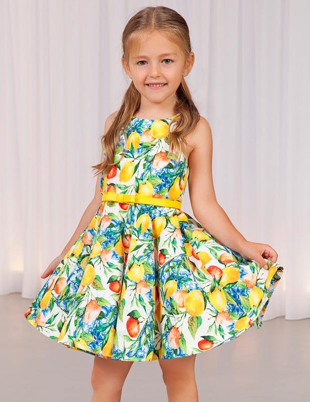Пъстра детска рокля Abel and Lula 5039