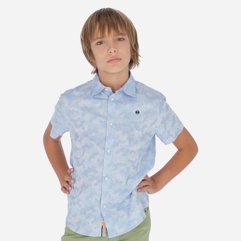 Детска риза с къс ръкав и камуфлажен цвят Mayoral 6151