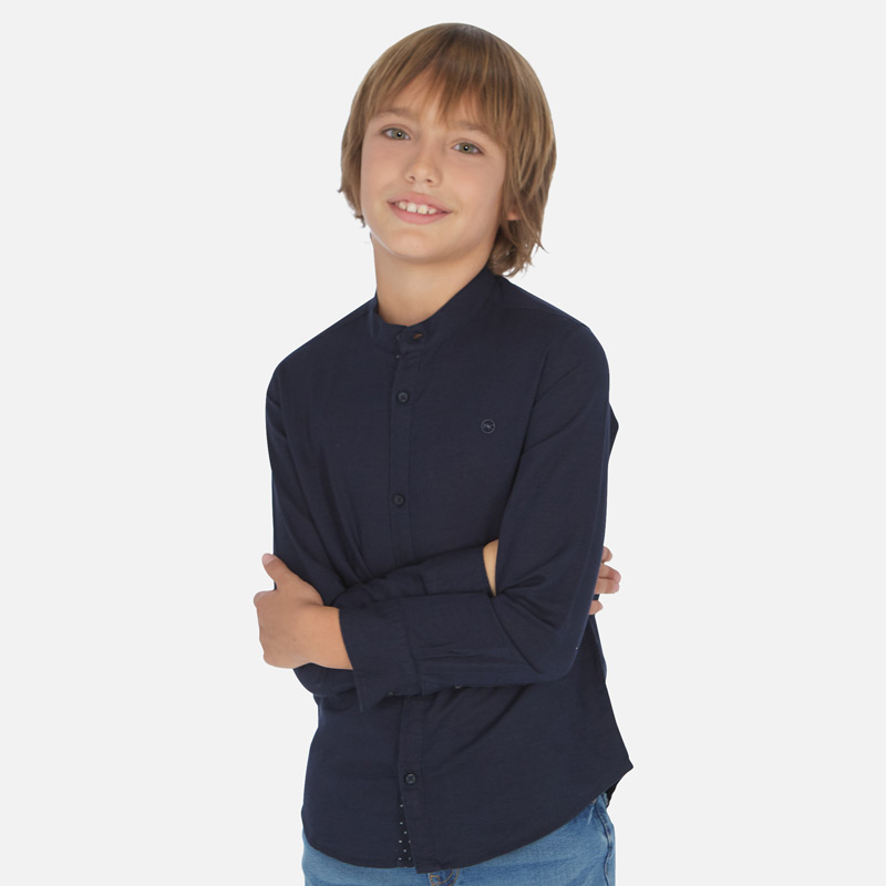 Ленена стилна риза с дълъг ръкав за момче Mayoral 6156