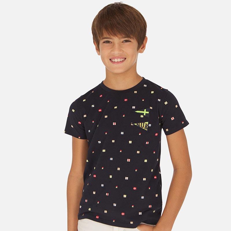Тениска с щампи за момче Mayoral 6071