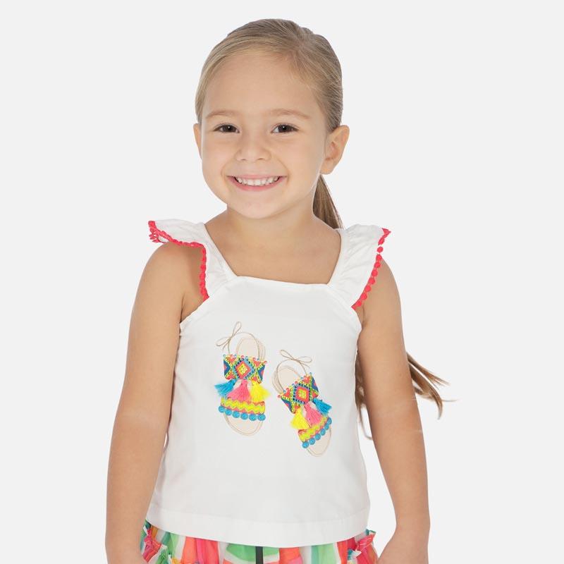 Детски потник с помпони Mayoral 3026