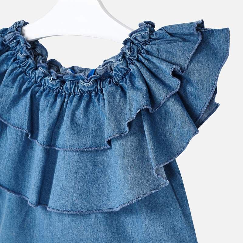 Красива дънкова риза с волани Mayoral 3187 - 4