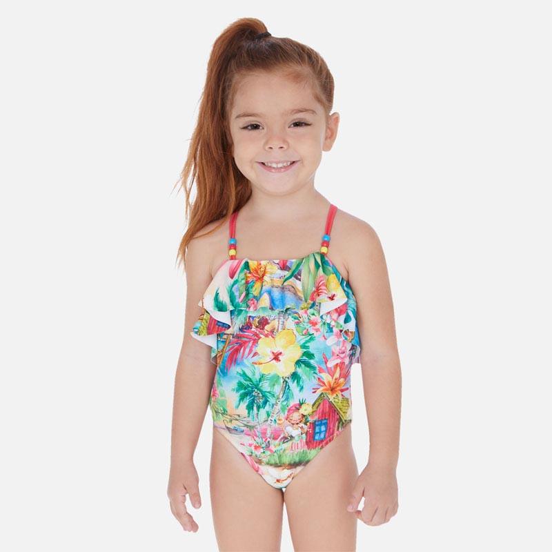 Модерен цветен бански за момиче Mayoral 3730