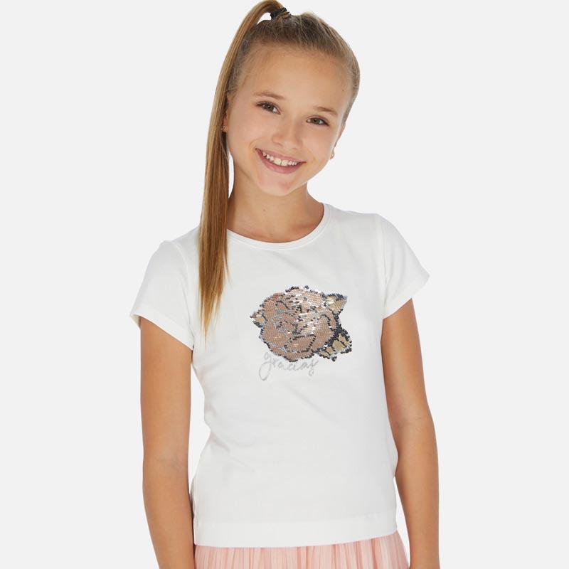 Красива тениска с пайети Mayoral 6022