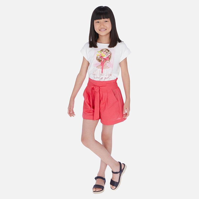 Къс ленен детски панталон Mayoral 6258