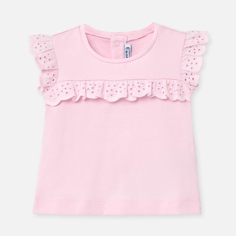 Изчистена тениска за бебе момиче Mayoral 1061