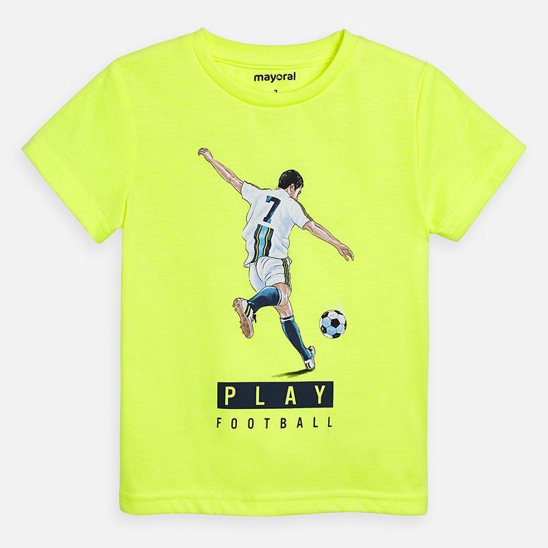 Тениска с рисунка на футболист за момче Mayoral 3055