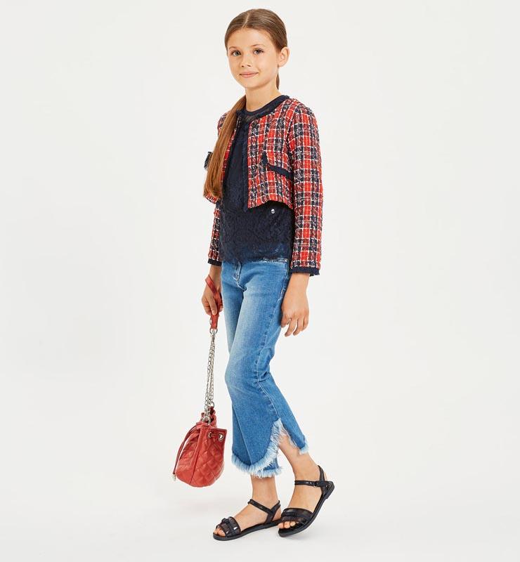 Красива детска дантелена блуза Sarabanda 0J409