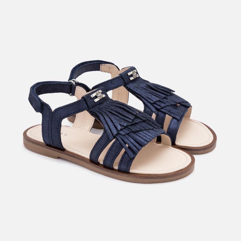 Красиви кожени сандали с ресни Mayoral 45163