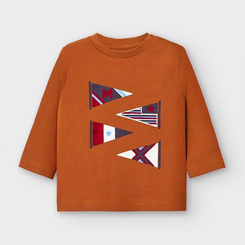 Бебешка памучна блузка Mayoral 2039