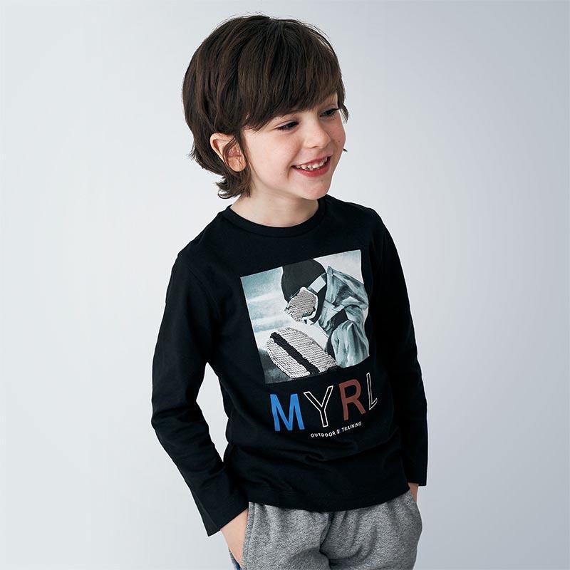Памучна блуза с надпис Mayoral 4052