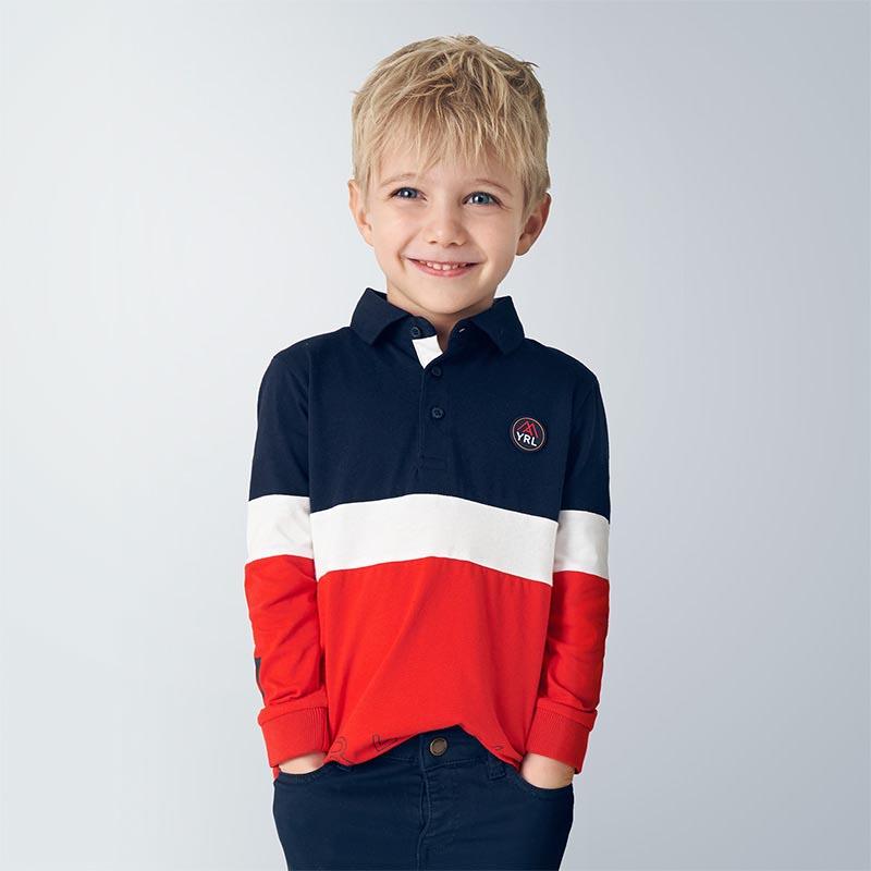 Детска спортно-елегантна поло блуза Mayoral 4129