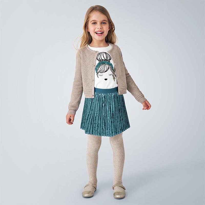 Детско фино плетена жилетка Mayoral 4349