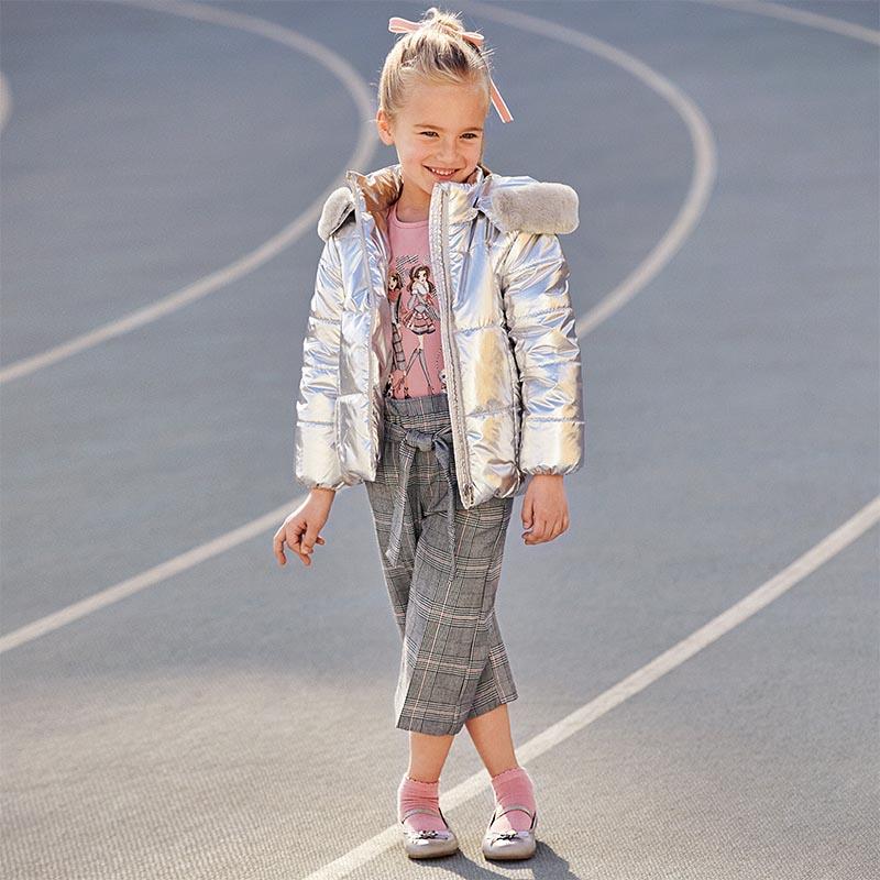 Детски спортно-елегантен панталон на каре Mayoral 4553