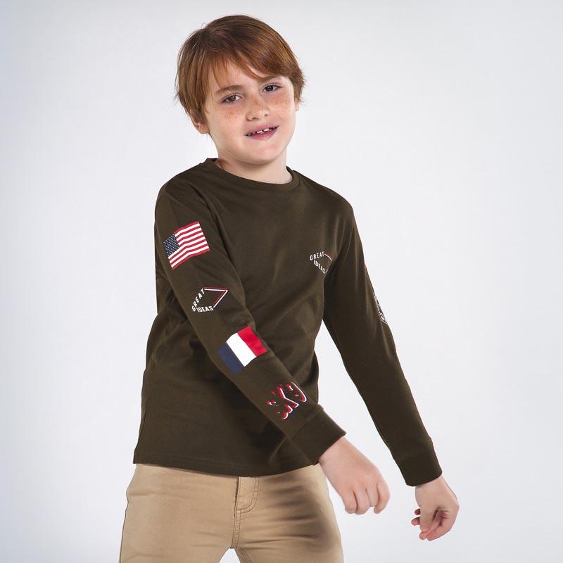 Детска памучна блуза с щампа Mayoral 7048