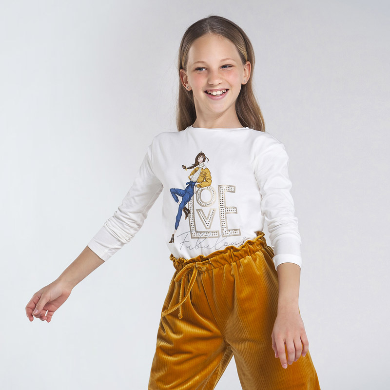 Детска красива блуза с щампа Mayoral 7068