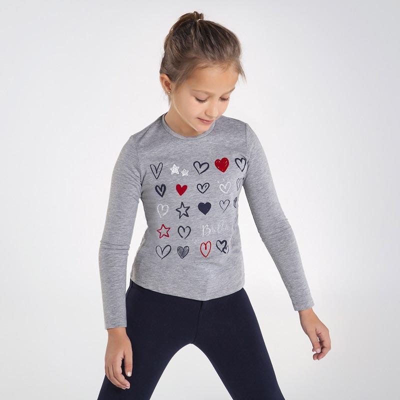 Детска красива блуза със сърца Mayoral 7073