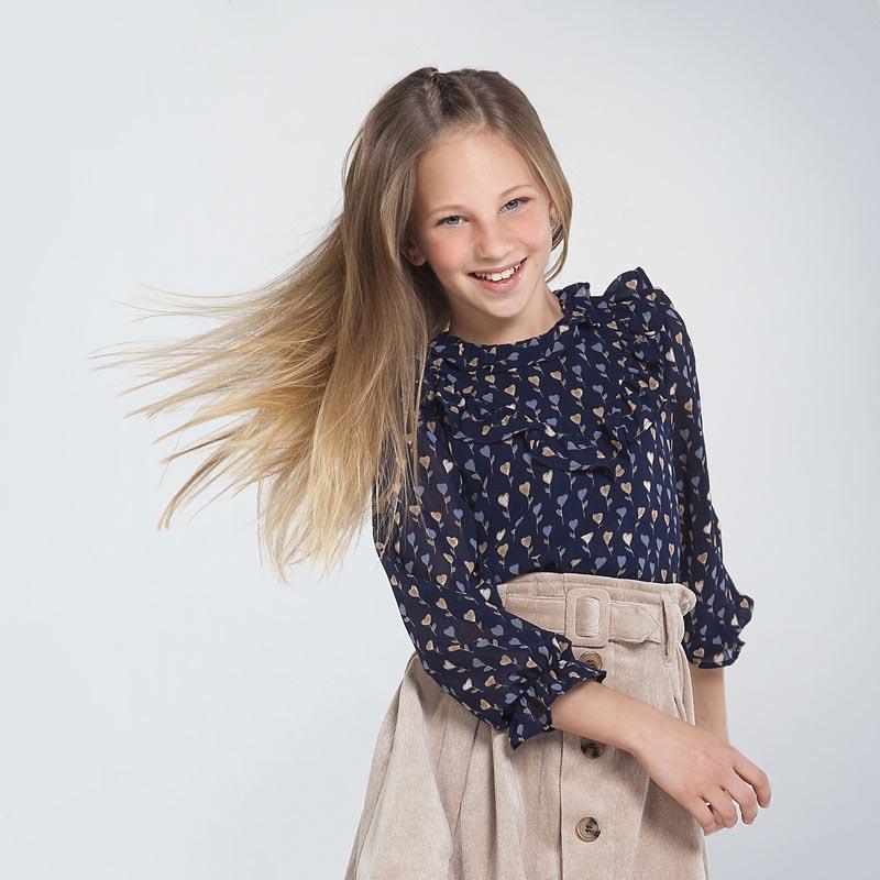 Детска красива риза със сърчица Mayoral 7143