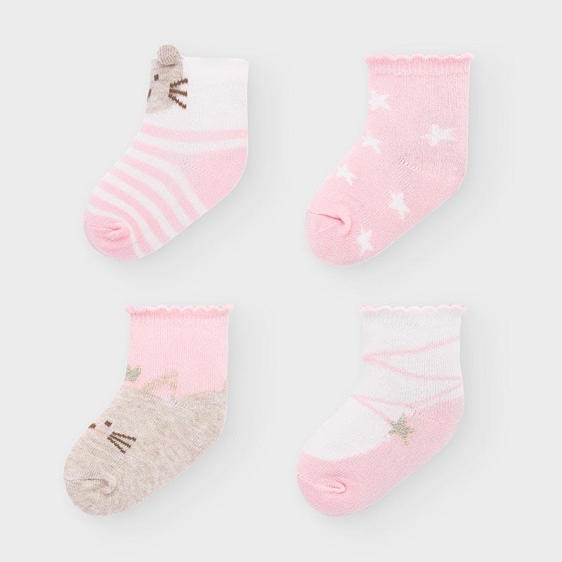 Комплект от 4 чифта чорапки за новородено Mayoral 9306