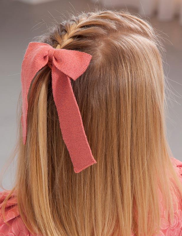 Ластик за коса с плетена панделка Abel&Lula 5922