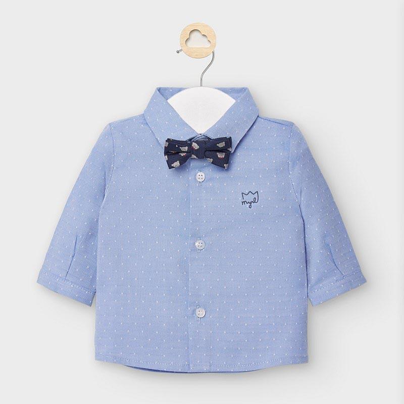 Бебешка официална риза с папионка Mayoral 2119