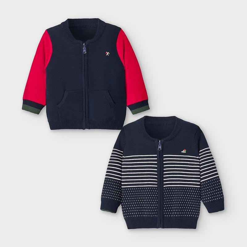 Бебешка плетена двулицева жилетка Mayoral 2356