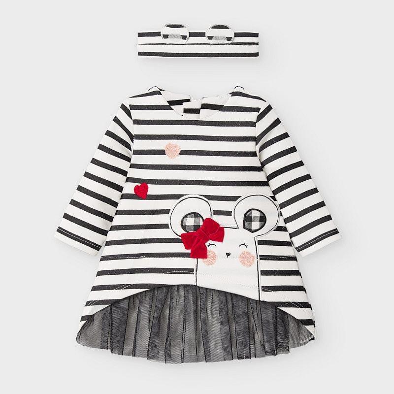 Бебешка сладка рокля с лента за глава Mayoral 2853