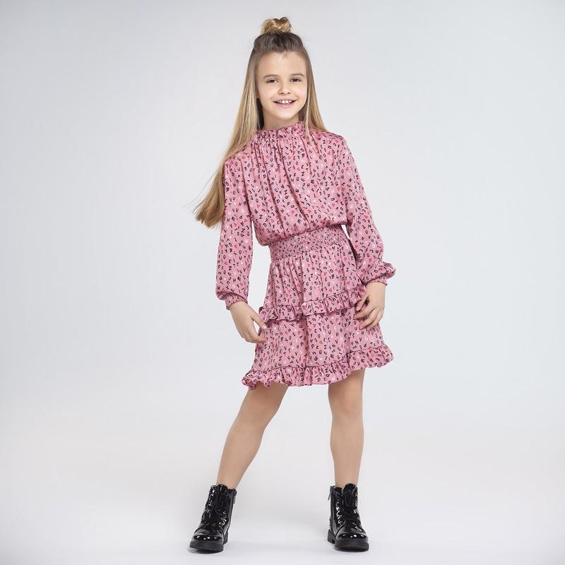 Стилна сатенена рокля Mayoral 7966