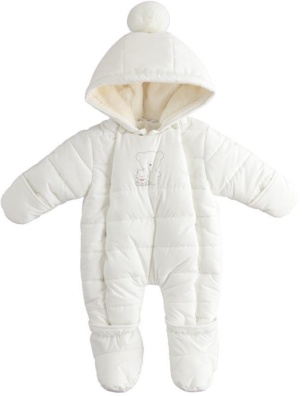 Снежно бял космонавт с пухкав помпон IDO 41299