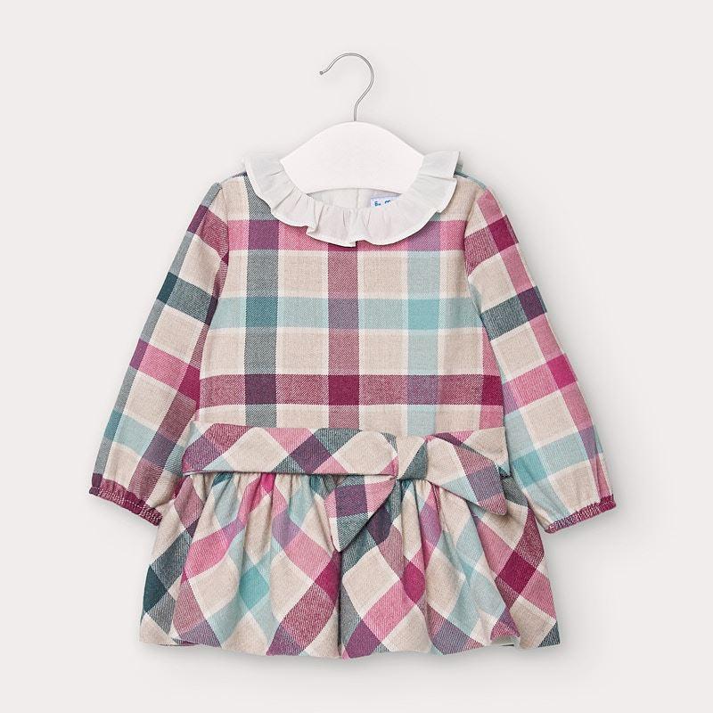 Сладка карирана бебешка рокля Mayoral 2959